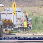 HMN - FD: Hazmat crews respond to semi-truck rollover, natural gas leak in Phoenix