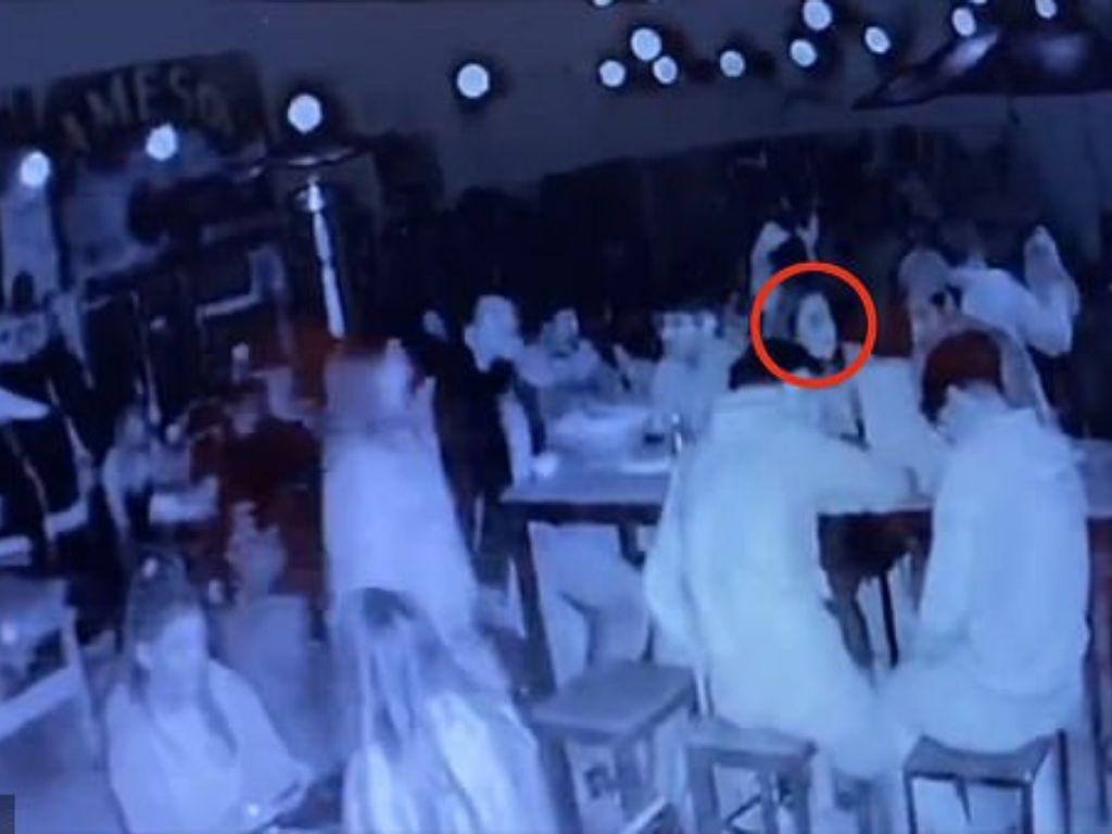 HMN - Moment outdoor table heater explodes and kills 19-year-old girl and injures eight of her friends at restaurant