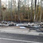 HMN - Semi rear-ended Louisiana trooper before hazmat explosion, police say