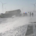 Authorities respond to tanker truck crash near Hayfield