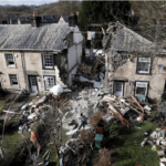 A WOMAN killed in a suspected gas blast that destroyed her home was on FaceTime to her boyfriend at the time of the explosion, an inquest heard.