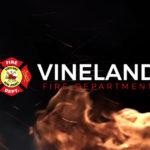Vineland FD Logo on fire